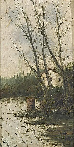 MANUEL RAMOS ARTAL (Madrid 1855-1900) Árboles caducos