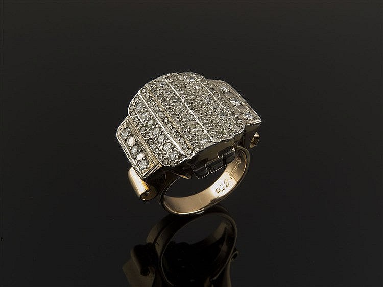 A GOLD AND DIAMOND RING, BY DRECIER