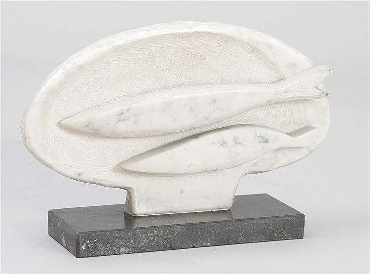 ANTONIO SANTOS (Lupiñen, Huesca, 1955) Bandeja con peces