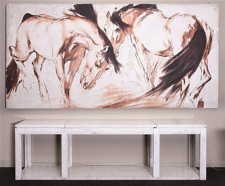 RICARDO ARENYS GALDÓN (Barcelona, 1914-1977) Horses