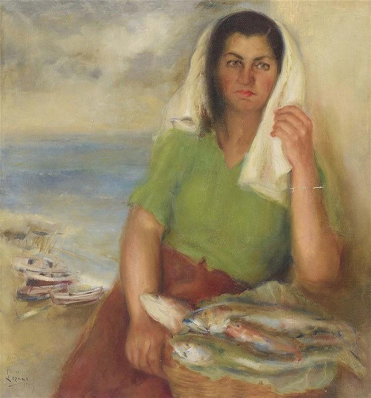 FRANCISCO LOZANO (Antella, 1912-Valencia, 2000) Muchacha marinera