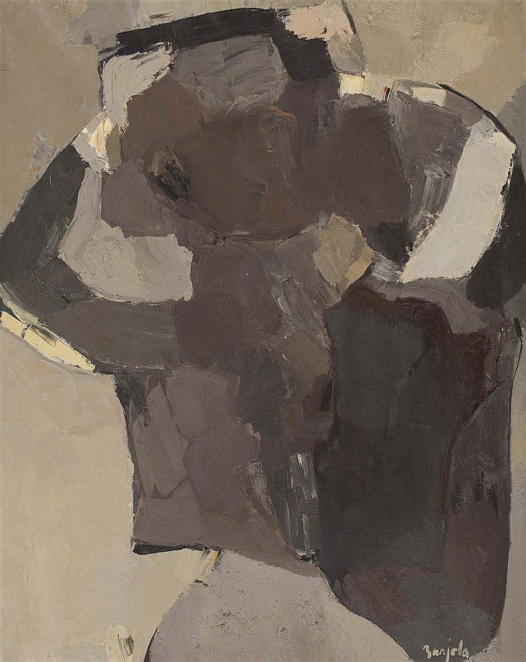 JUAN BARJOLA (Badajoz, 1919-Madrid, 2004) Figure