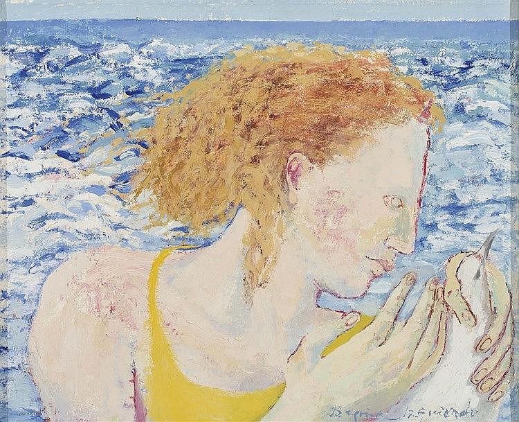 BEGOÑA IZQUIERDO (Bilbao, 1926-Madrid, 1999) La mujer, la gaviota y el mar