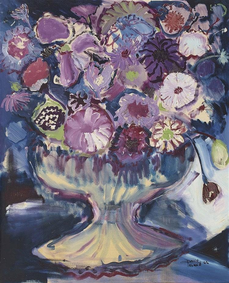DAVID TOLAND (Spanish Contemporary School) Jarrón con flores