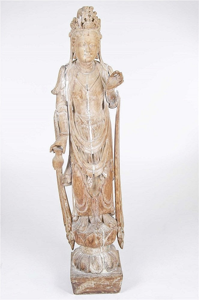 A CHINESE GODDESS FIGURE, CIRCA 1950