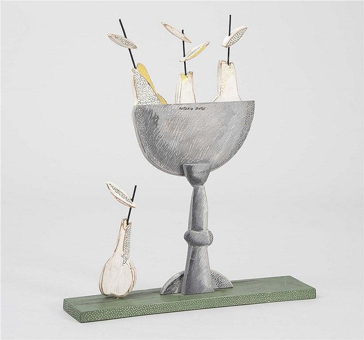 ANTONIO SANTOS (1955) Still Life with Pears