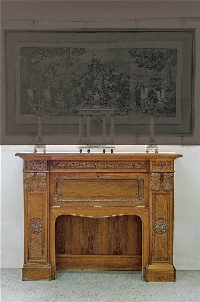 A VICTORIAN STYLE FIREPLACE