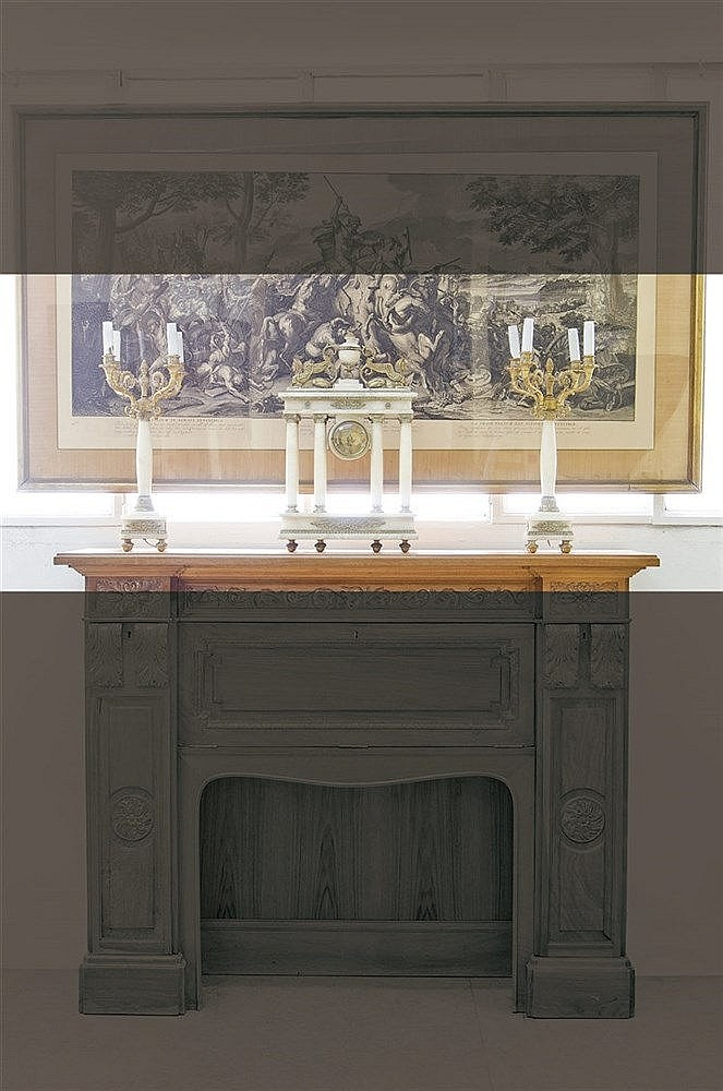 A FRENCH IMPERIAL STYLE PORTICO CLOCK