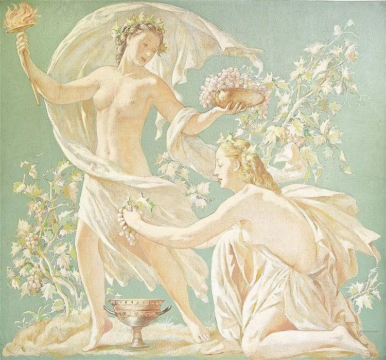 RAMÓN STOLZ VICIANO (Valencia, 1903-1958) Escena mitológica, 1947