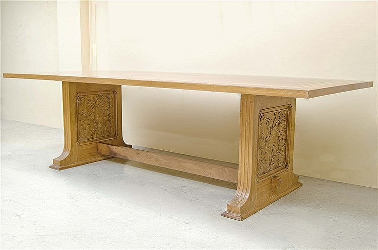 RAFAEL GARCIA DESIGN CARVED WALNUT TABLE
