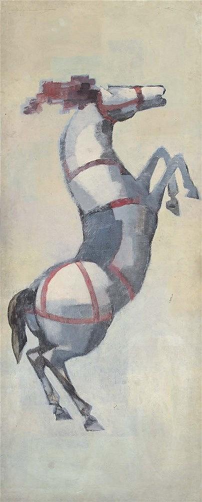 RAMON PUIG BENLLOCH (Valencia, 1929-2015) Caballo de circo