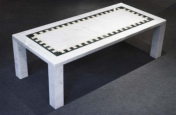 RAFAEL GARCIA DESIGN MARBLE COFFEE TABLE, CIRCA 1970