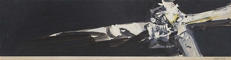 ALFONSO FRAILE (Marchena, 1930-Madrid, 1988) Figura blanca sobre negro