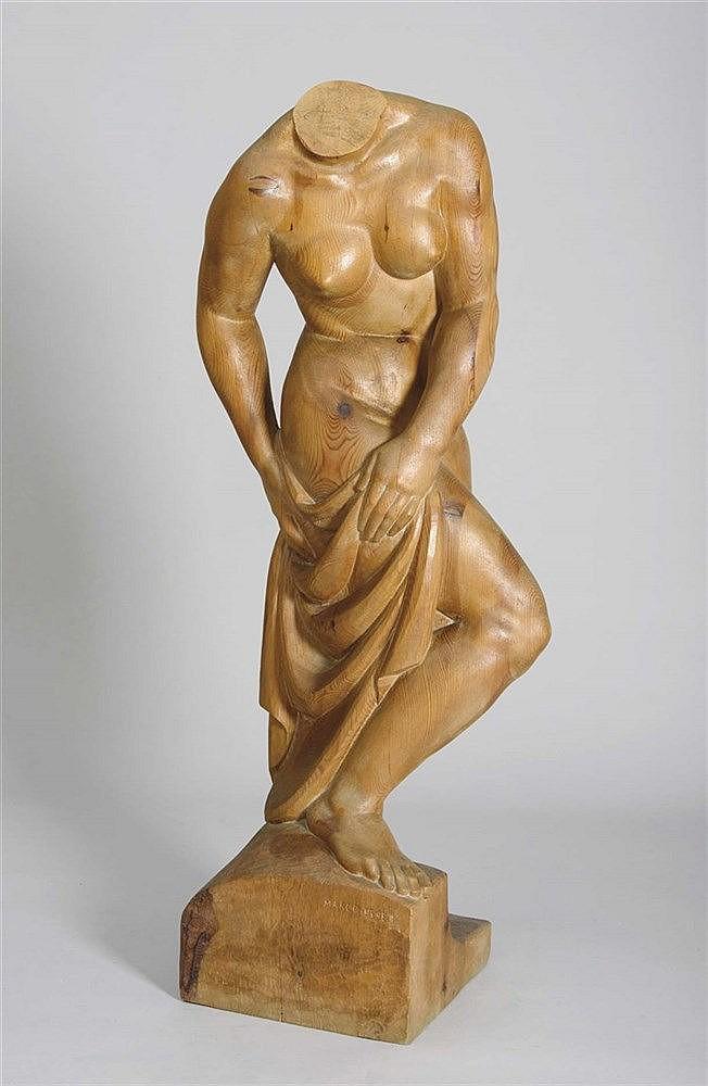 LUIS MARCO PEREZ (Fuentelespino de Moya 1896-Madrid 1983) Mujer secándose. 1950