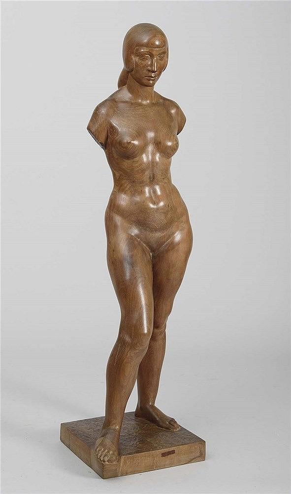LUIS MARCO PÉREZ (Fuentelespino de Moya, 1896-Madrid, 1983) Female Nude or Gypsy, 1947