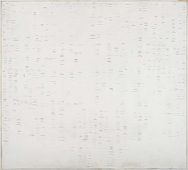 BISCHOFFHAUSSEN (German Contemporary School) Abstraction in White