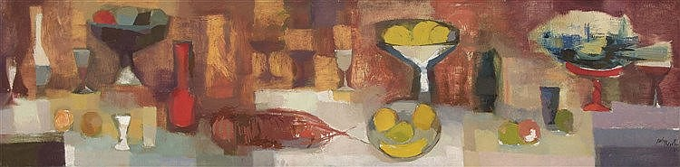 RAMÓN PUIG BENLLOCH (Valencia, 1929-2015) Still life with Lobster