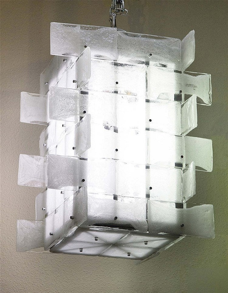 JAPANESE DESIGN CEILING LIGHT, CIRCA 1950-1960
