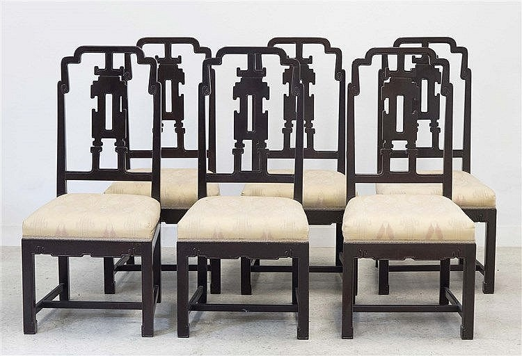 A SET OF SIX RAFAEL GARCIA DESIGN CHAIRS