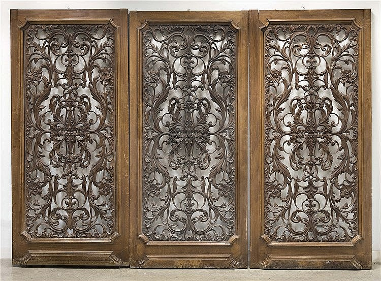 THREE BAROQUE STYLE DOORS
