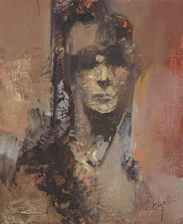 JULIA HIDALGO (Cordoba, 1948) Mujer con mantilla
