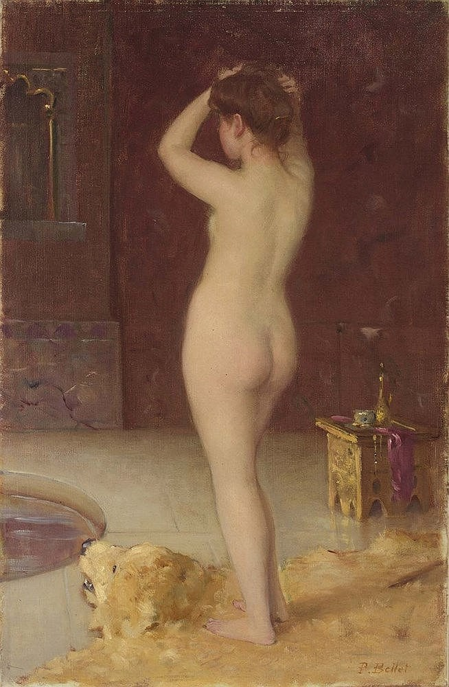 PIERRE AUGUSTE BELLET(1865-1924) Female Nude