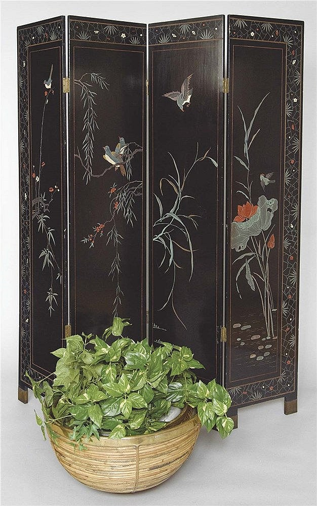 A CHINESE FOLDING SCREEN