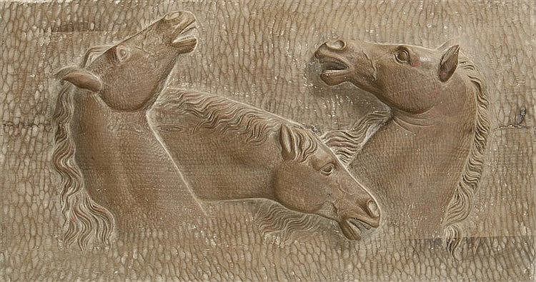 LUIS MARCO PEREZ (Fuentelespino de Moya, 1896-Madrid, 1983) Tres caballos
