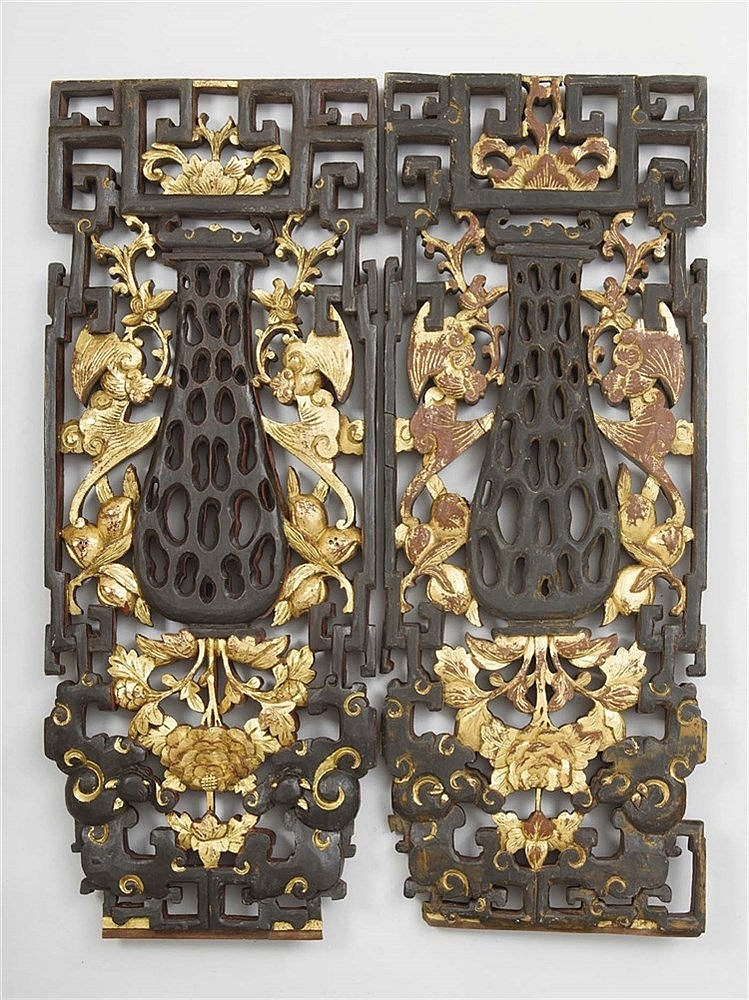 A PAIR OF ORIENTAL SCREENS