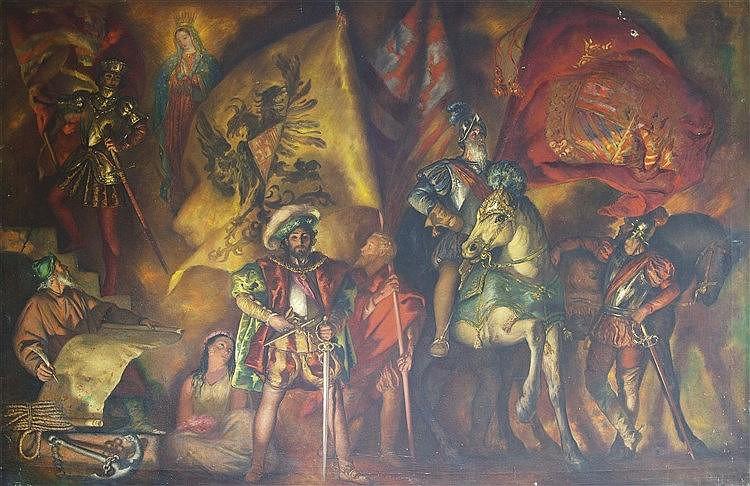 RAMÓN STOLZ VICIANO (Valencia, 1903-1958) Escena de conquista
