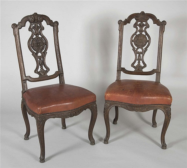 A PAIR OF PHILIP V OF SPAIN STYLE CHAIRS