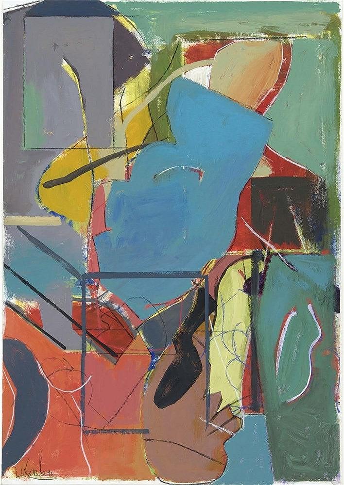 LUIS DE LA CÁMARA (1942) Composición en rojos y azules