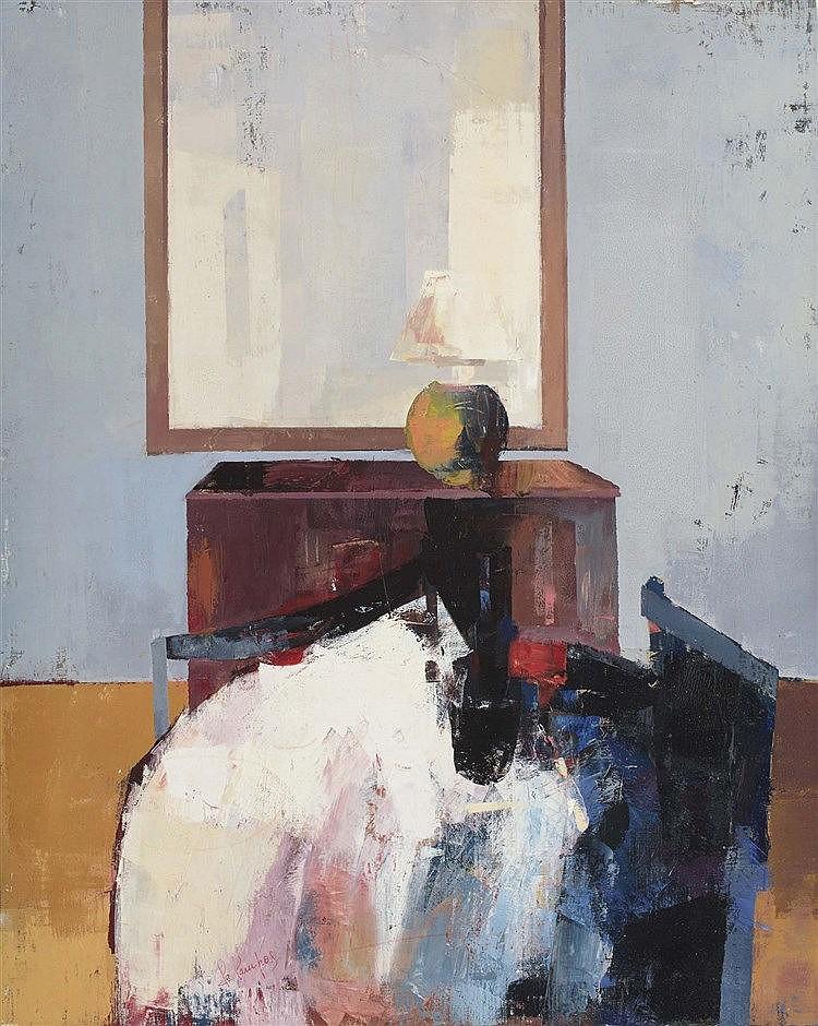 DANIEL DE CAMPOS (Contemporary Spanish School) Still Life with Mirror