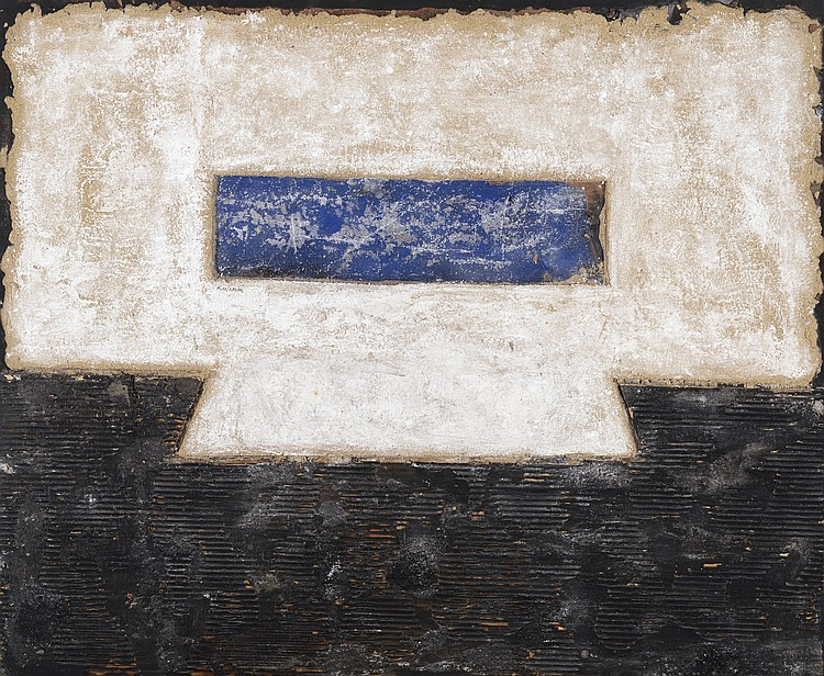 FERNANDO MIKELARENA (Legasa, Navarra, 1960) Untitled. Matérico. Mixed media on board