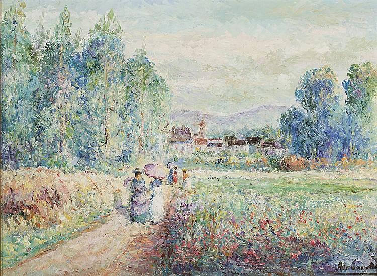 EMILE ALEXANDRE (Lieja, 1935-1973) Landscape. Oil on canvas