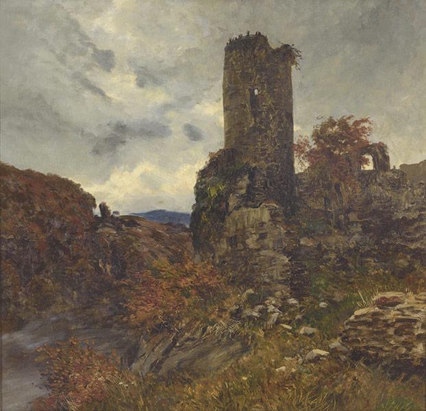 ANTONIO MUÑOZ DEGRAIN (Valencia,1840-Málaga,1924) - Ruina de castillo [ANTONIO MUÑOZ DEGRAIN (Valencia,1840-Malaga,1924) - Ruina de castillo]