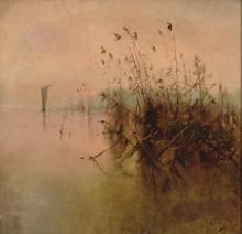 ANDRES LARRAGA (Valtierra 1862-1931) Paisaje Oleo so ANDRES LARRAGA (Valtierra 1862-1931) Landscape