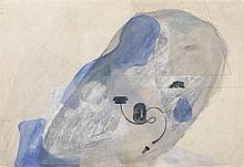 JORGE CASTILLO (Pontevedra, 1933) Composition. Gouache and pencil drawing on paper laid down on canvas