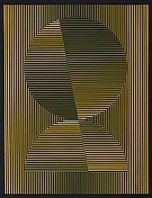 EUSEBIO SEMPERE (Onil, Alicante, 1923 - 1985) Círculo y semicírculo partido. Silk Screen Printing on Paper