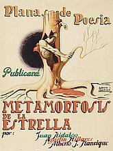 ALBERTO MANRIQUE DE LARA (Las Palmas de Gran Canaria, 1926) Metamorfosis de la estrella. Gouache on paper