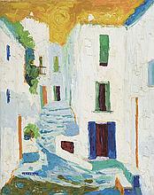 CASIMIR TARRASÓ (1900-1979) Calle de pueblo. Oil on canvas