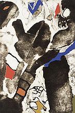 JOSEP GUINOVART (Barcelona 1927–2007) Untitled. Carborundum etching and tempera on paper
