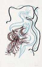 RAFAEL ALBERTI (El Puerto de Santa María, Cadiz, 1902-1999) Mujer y caballo. Lithograph