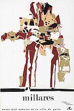 MANOLO MILLARES (1926-1972) Untitled. Silk Screen Printing