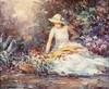 LUIS GINER BUENO (Godella, Valencia, 1935-2000) Paisaje con dama con flores. Oil on canvas, Luis Giner, €400