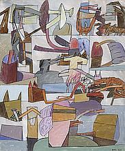 ADRIÁN MOYA (Cuenca, 1952 - 2012) Composition. Acrylic on canvas