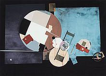 ANTONIO LORENZO CARRIÓN (Madrid 1922-2009) Untitled. Collage on lithograph