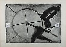 ANTONI TAPIES (Barcelona 1923-2012) Flocat gris. Lithograph