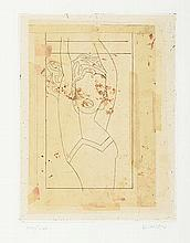 MANOLO VALDÉS (Valencia, 1942) De Cranach a Liechtenstein III. 2002. Etching
