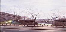 MANUEL TERAN (Santiago de Chile, 1974) Pamplona. Oil on board